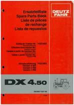 DX 4.50 - Ersatzteilliste / Spare Parts Book / Liste de pièces de rechange / Lista de repuestos