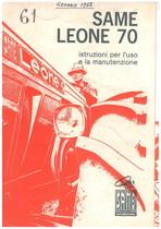 SAME LEONE 70 - Libretto uso & manutenzione