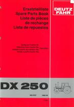DX 250 - Ersatzteilliste / Spare parts book / Liste de pièces de rechange / Lista de repuestos