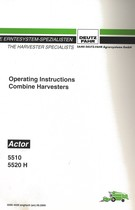 ACTOR 5510 - ACTOR 5520 H - Operating instructions