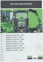 AGROPLUS S 70-75-90-100 - Operating and Maintenance