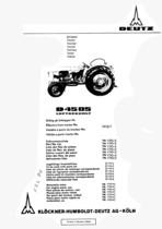 D 4505 - Ersatzteilliste / Spare parts catalogue / Catalogue de pièces de rechange / Lista de repuestos