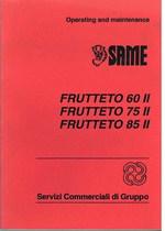 FRUTTETO 60 II - 75 II - 85 II - Operating and maintenance