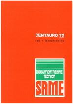 CENTAURO 70 EXPORT - Uso y manutencion