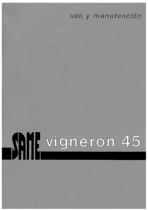VIGNERON 45 - Uso y manutencion