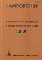 2 R - Istruzione per l'uso e la manutenzione e catalogo ricambi