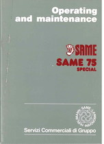 SAME 75 SPECIAL - Operating and maintenance