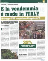 E la vendemmia è made in Italy: il gruppo SDF acquisisce Grégoire