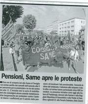 Pensioni, SAME apre le proteste