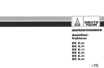 AGROSTAR 4.61 - AGROSTAR 4.71 - AGROSTAR 6.11 - AGROSTAR 6.21 - AGROSTAR 6.31 - AGROSTAR 6.61 - Instruktionsbog