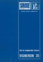 VIGNERON 35 - Catalogo Parti di Ricambio / Catalogue de pièces de rechange / Spare parts catalogue / Ersatzteilliste / Lista de repuestos