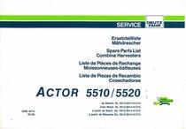 ACTOR 5510-5520 - Ersatzteilliste / Liste de Pièces de Rechange / Spare Parts List / Elenco dei Pezzi di Ricambio / Lista de Piezas de Recambio