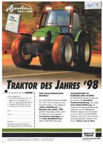 AGROTRON 105 - 150, Traktor des jahres '98