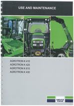 AGROTRON K 410-420-610-430 - Operating and Maintenance