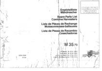 M 35.70 - Ersatzteilliste / Spare parts list / Liste de pièces de rechange / Lista de repuestos