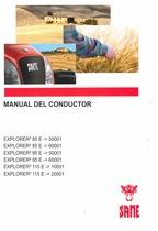 EXPLORER³ 85 E - EXPLORER³ 85 E da 60001 - EXPLORER³ 95 E - EXPLORER³ 95 E da 60001 - EXPLORER³ 115 E - EXPLORER³ 115 E da 20001 - Manual del conductor