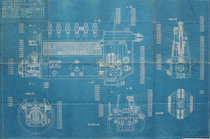 Pompa tipo 6 C - Dis. n. P 2910 - Complessivo generale
