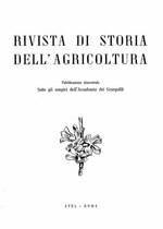 RIVISTA DI STORIA DELL'AGRICOLTURA, 1961