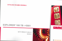 EXPLORER³ 100 TB ->5001 - Catalogo ricambi originali