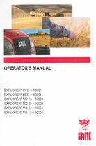 EXPLORER³ 85 E ->50001 - EXPLORER³ 85 E ->60001 - EXPLORER³ 100 E ->50001 - EXPLORER³ 100 E ->60001 - EXPLORER³ 115 E ->10001 - EXPLORER³ 115 E ->20001 - Operator's manual