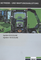 AGROFARM 85 ECOLINE - AGROFARM 100 ECOLINE - Betriebs - und Wartungsanleitung