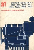 MOTORI INDUSTRIALI 982 - 983 - 984 - 986 - 1052 - 1053 - 1054 - 1056 L - Libretto uso & manutenzione