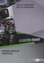 7230 TTV - 7250 TTV - Operatoriaus vadovas
