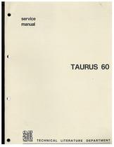 TAURUS 60 - Workshop manual