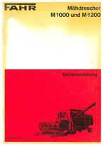 FAHR M 1000 und 1202 Madrescher - Betriebsanleitung