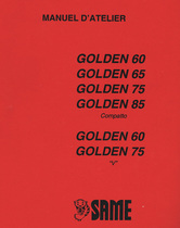 GOLDEN 60 COMPATTO - GOLDEN 65 COMPATTO - GOLDEN 75 COMPATTO - GOLDEN 85 COMPATTO - GOLDEN 60 V - GOLDEN 75 V - Manuel d'atelier