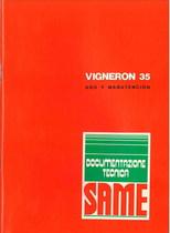 VIGNERON 35 - Uso y manutencion