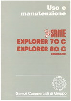 EXPLORER 70 C - 80 C ERGOMATIC - Libretto uso & manutenzione