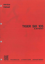 TIGER SIX 105 EXPORT - Workshop manual
