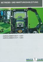 AGROCLIMBER 400 F ->2001 - AGROCLIMBER 410 F ->2001 - Betriebs - und Wartungsanleitung