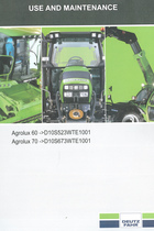 AGROLUX 60 ->D10S523WTE1001 - AGROLUX 70 ->D10S673WTE1001 - Use and maintenance