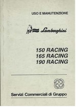 150 - 165 - 190 RACING - Libretto Uso & Manutenzione
