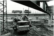 Samecar Elefante AC 6x6 durante i lavori di costruzione dello svincolo autostradale di Fiorenza - A4 Milano-Torino