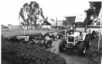 Esposizione di trattori Lamborghini in Africa