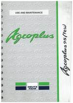 AGROPLUS 95 NEW - Use and maintenance