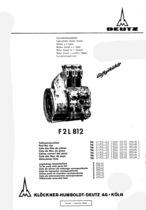 F2 L 812 - Ersatzteilliste / Spare parts list / Liste de pièces de rechange / Lista de repuestos