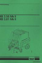 RB 3.56 MK II - RB 3.81 MK II - Betriebsanleitung