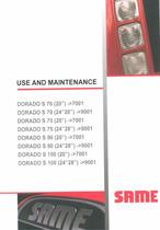 DORADO S 70 (20'') ->7001 - DORADO S 70 (24'' 28'') ->9001 - DORADO S 75 (20'') ->7001 - DORADO S 75 (24'' 28'') ->9001 - DORADO S 90 (20'') ->7001 - DORADO S 90 (24'' 28'') ->9001 - DORADO S 100 (20'') ->7001 - DORADO S 100 (24'' 28'') ->9001 - Use and maintenance