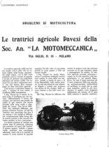"""Le trattrici agricole PAVESI della Soc. An. """"La Motomeccanica"""""""