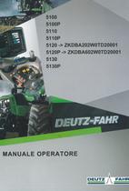 5100 - 5100P - 5110 - 5110P - 5120 ->ZKDBA202W0TD20001 - 5120P ->ZKDBA602W0TD20001 - 5130 - 5130P - Manuale operatore