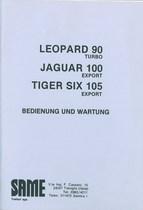 LEOPARD 90 TURBO - JAGUAR 100 EXPORT - Bedienung und instandhalthung