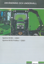 AGROTRON M 650 ->20001 - AGROTRON M 650 PROFILINE ->20001 - Användning och underhâll