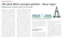 100 Jahre Werk Lauingen gefeiert - Neue Logos