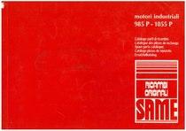 MOTORI INDUSTRIALI 985 P- 1055 P - Catalogo Parti di Ricambio / Catalogue de pièces de rechange / Spare parts catalogue / Ersatzteilliste / Lista de repuestos