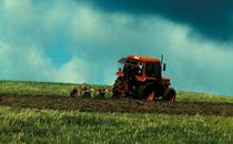 [SAME] trattore Buffalo 130 al lavoro con ripuntatore