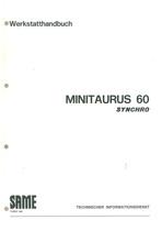 MINITAURUS 60 - Werkstatthandbuch